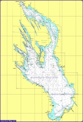 Карта глубин Онежского озера