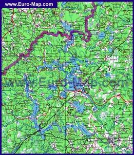 Карта дорог Селигера и окрестностей