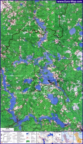 Подробная карта озера Селигер