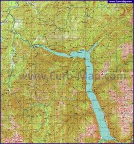 Подробная карта Телецкого озера